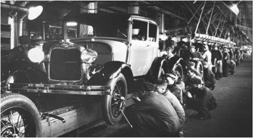 Image result for Model-T-Ford assembly line